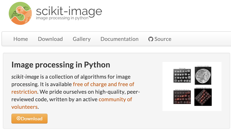 scikit-image home page