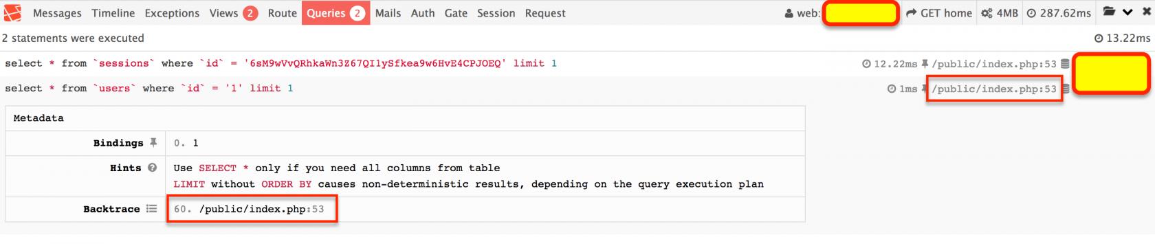 输出 SQL 语句