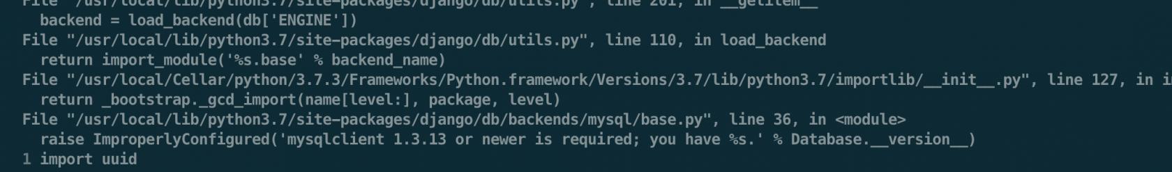 关于python3不支持MySQLdb的说法