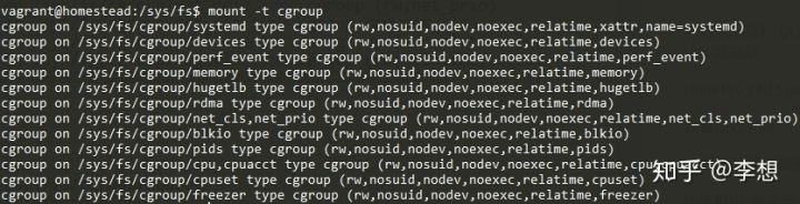 mount -t cgroup