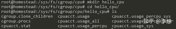 cgroup/cpu/hello