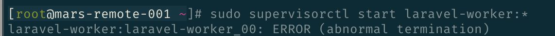 Horizon配置守护进程--Supervisor中遇到的一些问题(Aws\Sqs\SqsClient not found)