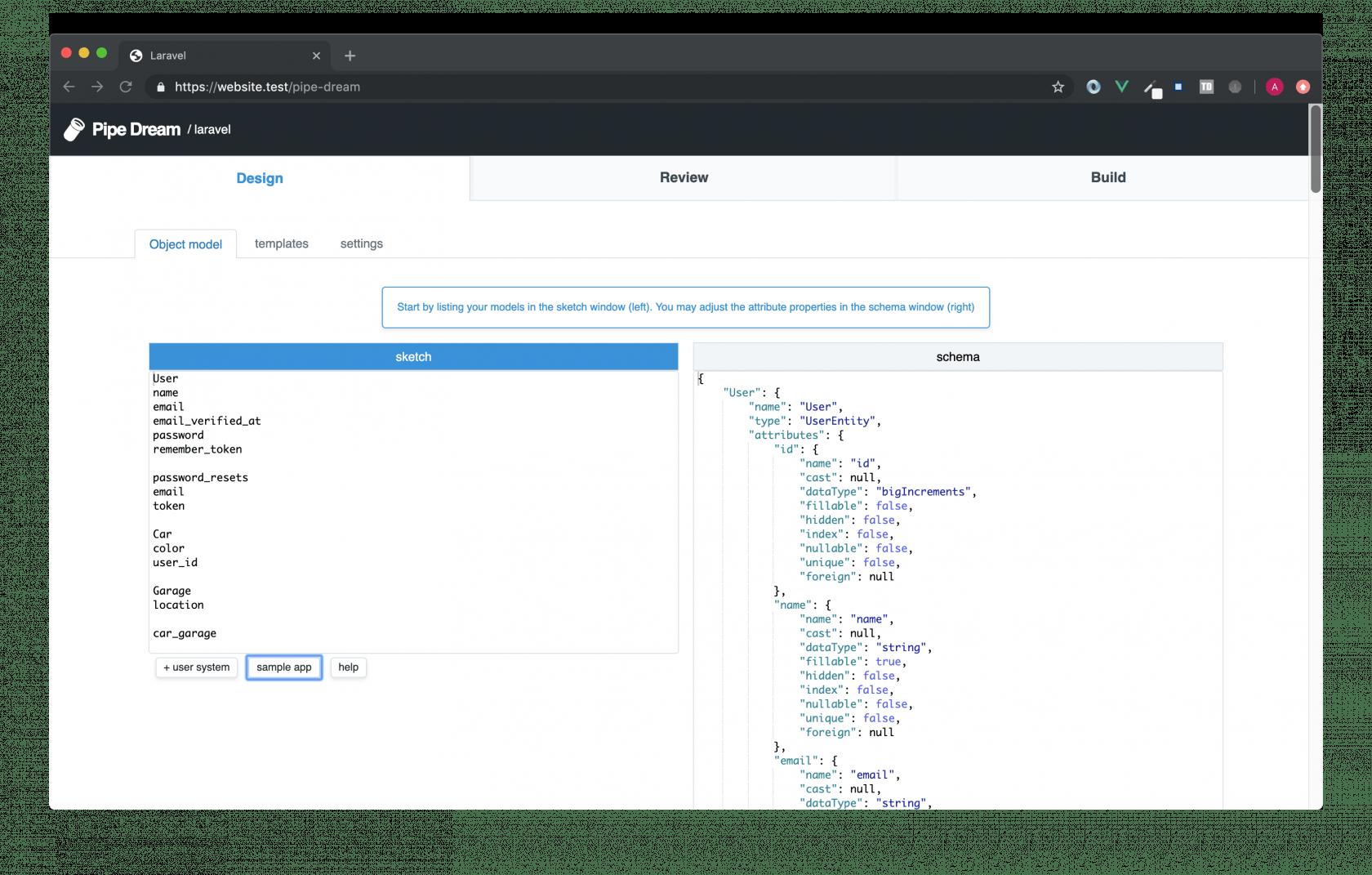 使用 Laravel Pipe Dream 快速构建Laravel基础应用