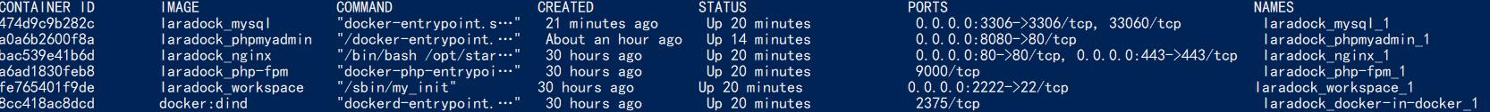 在 laradock 中无法访问到 MySQL (Laravel 项目报 2002 错误) 的问题。