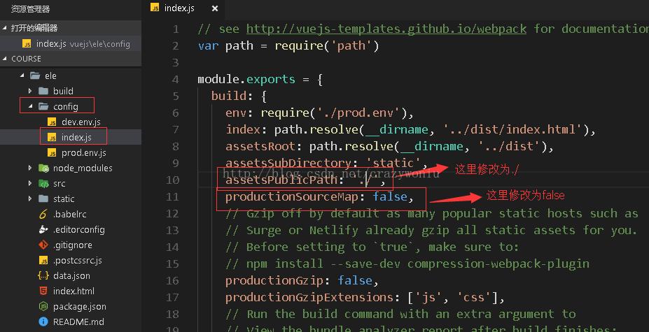 使用node.js发布部署vue项目