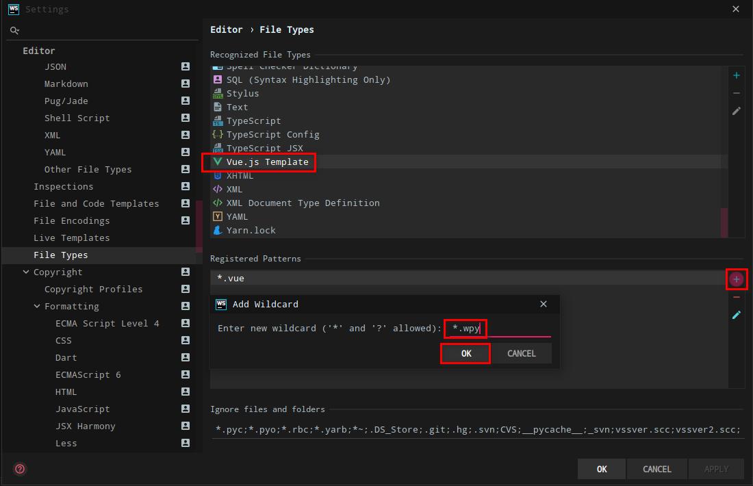 WebStorem 支持微信小程序 wepy 代码高亮
