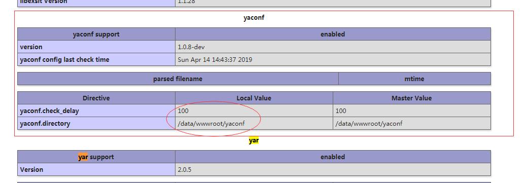PHP 安装 yaconf 扩展