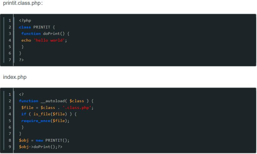 PHP 核心技术   --面向对象