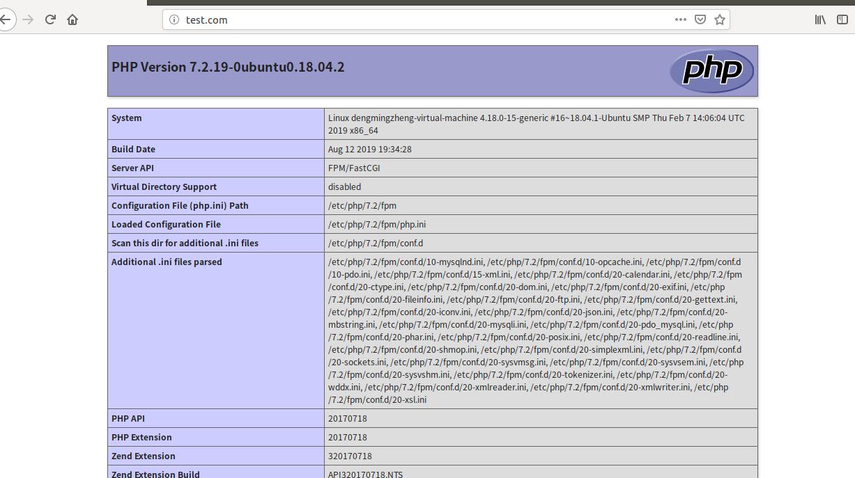 在 Ubuntu18.04 下安装 LNMP 环境