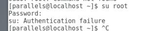 Linux 出现 su: Authentication failure