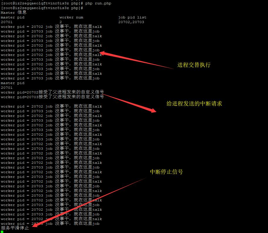 PHP多进程与信号中断的实现【Master/Worker模型】