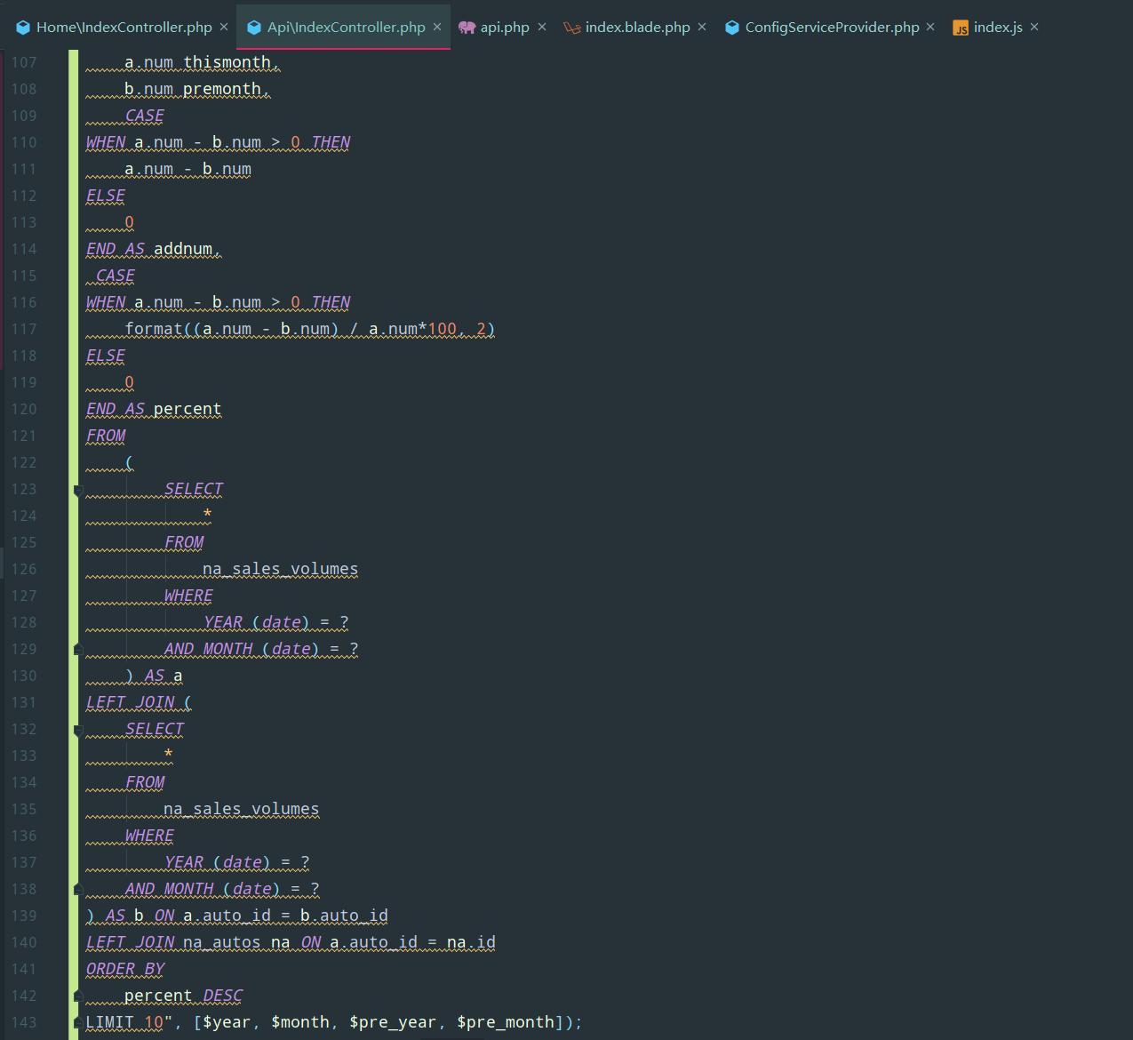 如何在phpstorm里面格式化原生sql查询语句?
