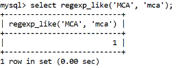 MySQL regexp_like Function