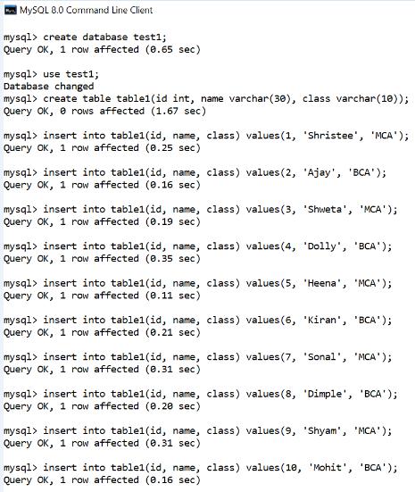 MySQL Not regexp Operator