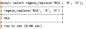 MySQL regexp_replace Operator