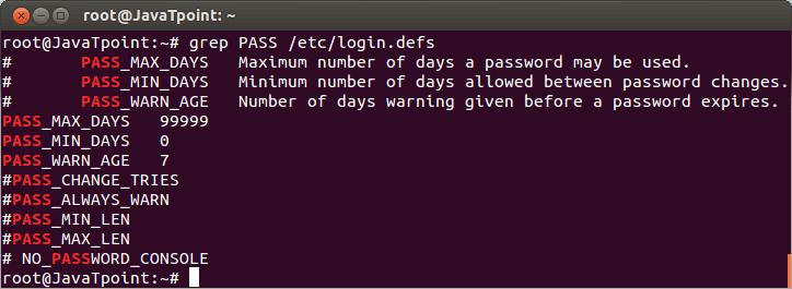 Linux User Password8