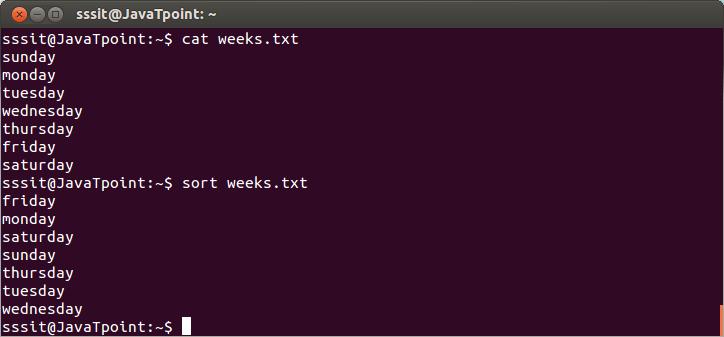 Linux Sort Filters1
