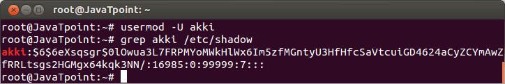 Linux User Password12