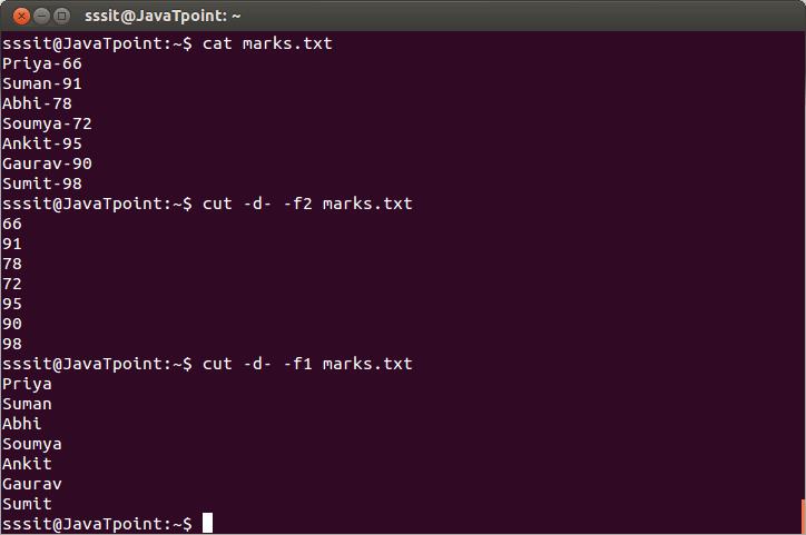 Linux Cut Filter1