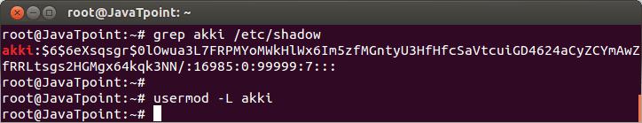 Linux User Password10