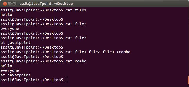 Linux cat concatenate1