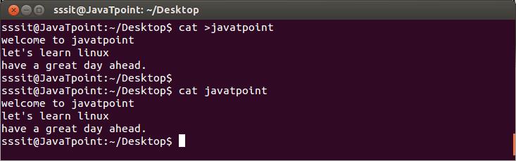 Linux cat Create1