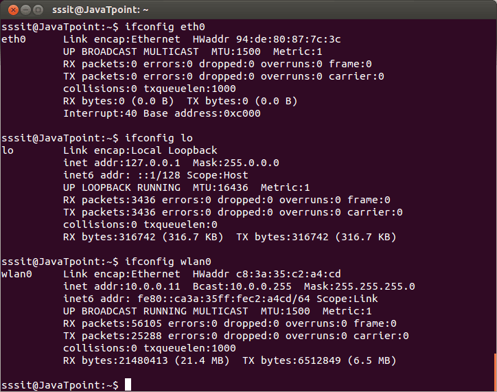 Linux Networking ifconfig2