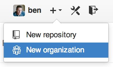 """New organization""菜单项"