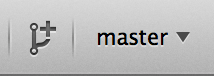 "Mac 上的""创建分支""按钮。"