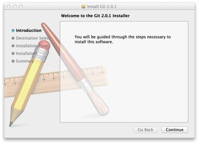 Git OS X 安装程序。