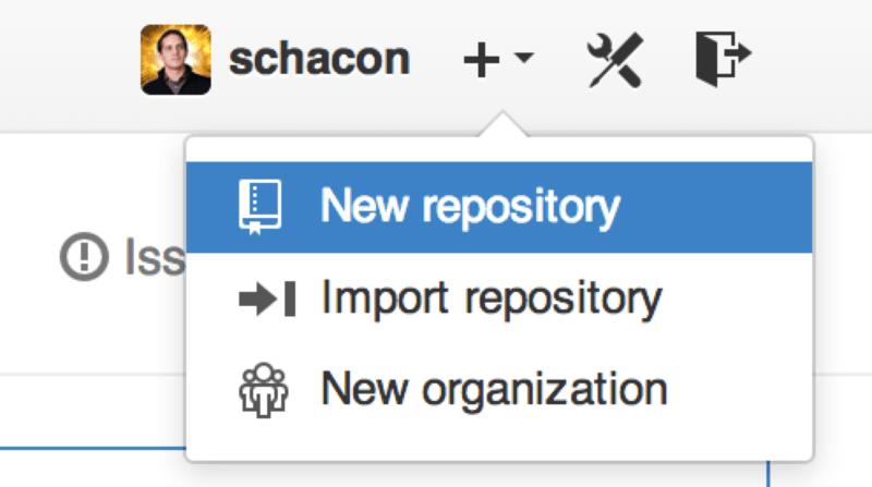 """new repository"" 下拉列表."