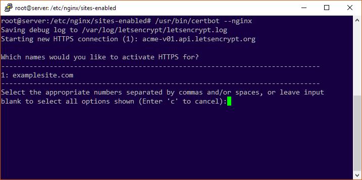 Ubuntu 18 LTS 下为 Nginx 站点开启 HTTPS