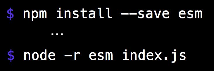 ESM Fix in Node