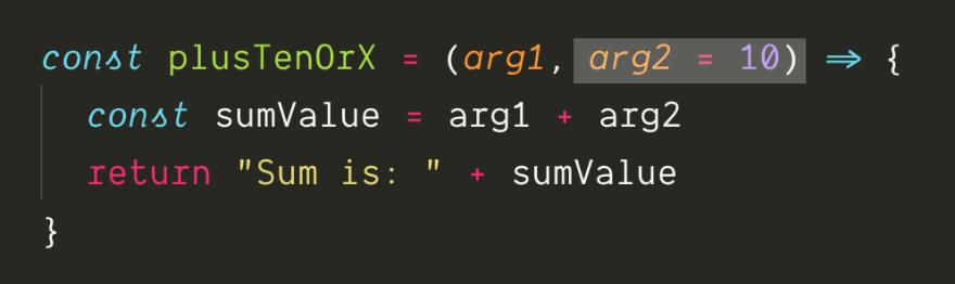 Default function arguments