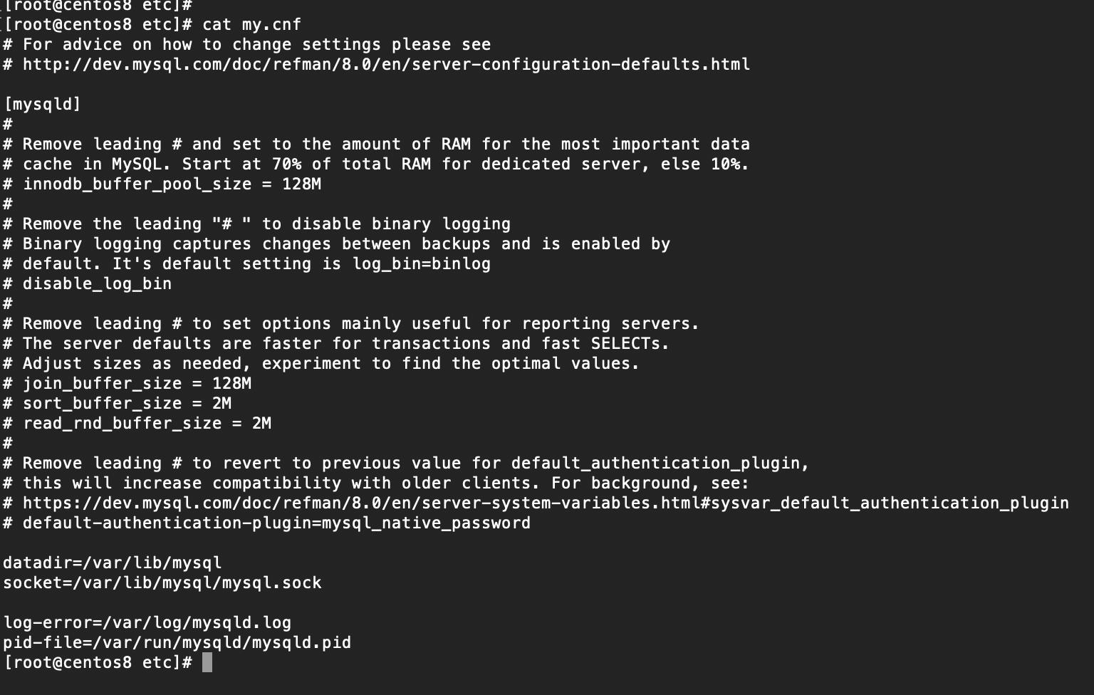 Centos8安装Mysql8.0(RPM)