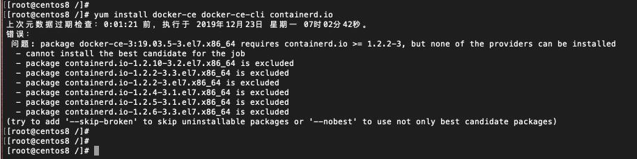 CentOS 安装 docker