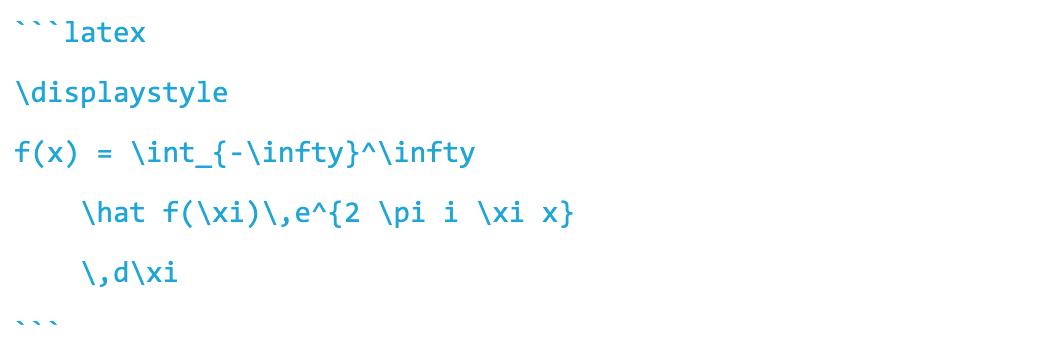 插入 Latex 数学公式