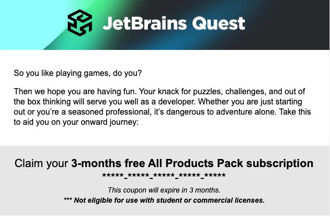做 JetBrains 解谜游戏,免费使用全家桶!