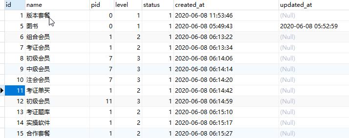Laravel框架无限极分类简单实现