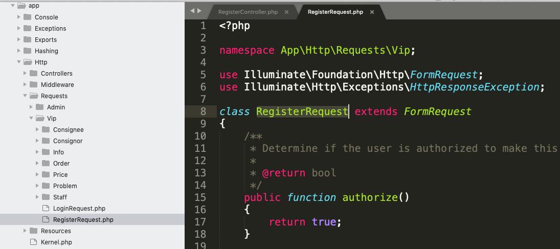 Laravel 项目在 Windows 上开发 部署到 Linux 上都能正常运行,克隆到 Mac 上就提示类不存在