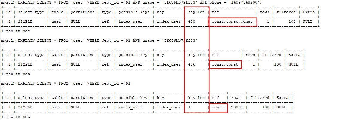 MySQL学习笔记:组合索引-最左原则