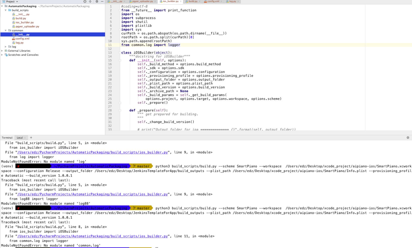 python3 命令行执行脚本时一直报错:ModuleNotFoundError