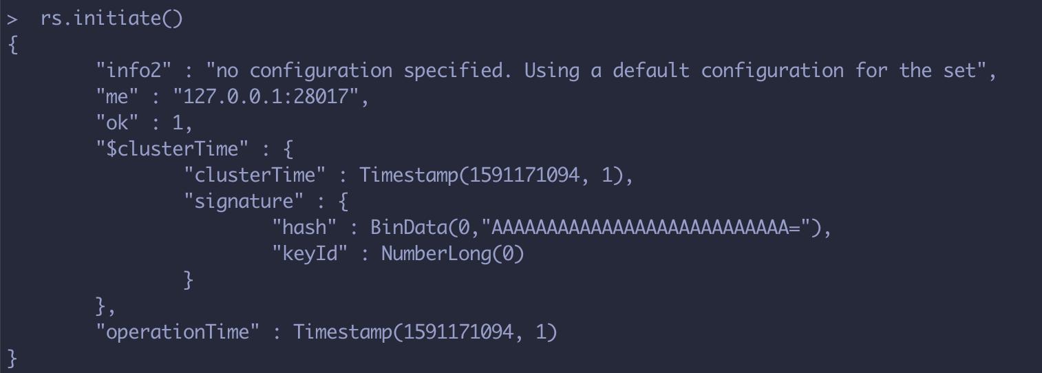 Mongodb 配置复制集,并启用安全校验