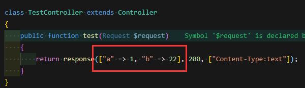 laravel jwt 在response函数中,输入array却响应json的原因