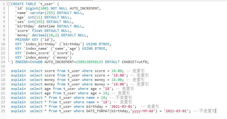mysql隐式转换问题