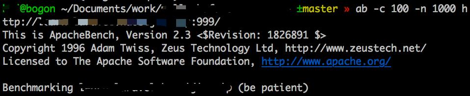 `ab`测试的命令