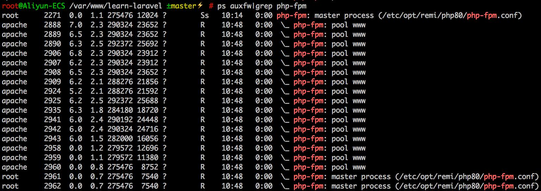 压测进行当中,出现了多个`master`进程