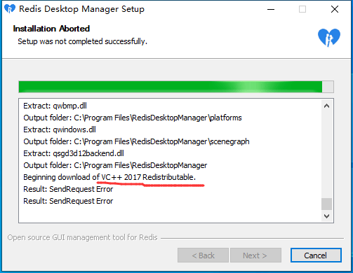 安装redis-desktop-manager工具报错解决