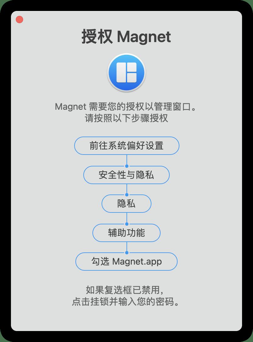 Mac安装Magnet软件一直提示授权