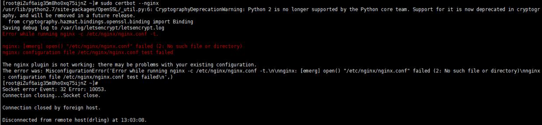 nginx 主配置文件 /etc/nginx/nginx.conf  没有检测到